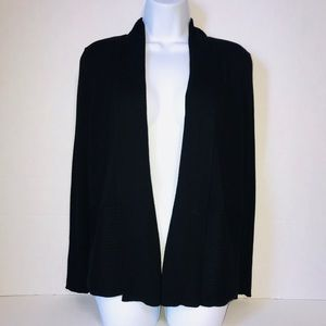 Christopher & Banks Open Front Cardigan Black M